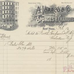 A. Isaacs & Co. Bill or rec...