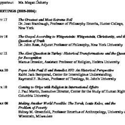 Schedules. Studies in Relig...