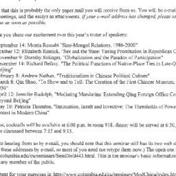 Announcements, 2001-08-01. ...