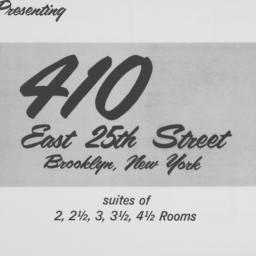 410 E. 25 Street, Presentin...