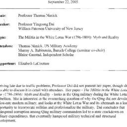 Minutes, 2005-09-22. Tradit...