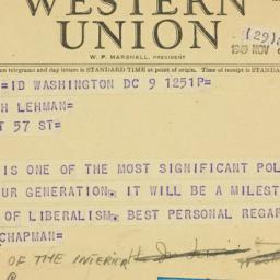 Lehman Special Correspondence Files