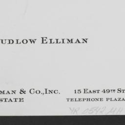 25 E. 83 Street, Ludlow Ell...
