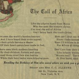 The     Call of Africa, und...