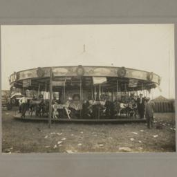 Carousel with Illions Horses