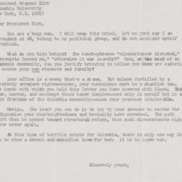 "Letter from ""a concerned st..."