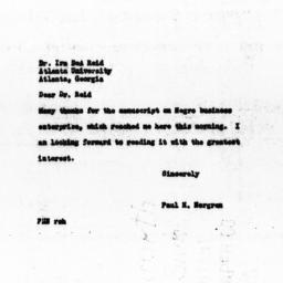 Letter from Paul H. Norgren...