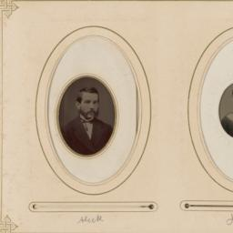 """Two Portraits in Ovals: """"Al..."""