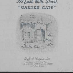 Garden Gate, 355 E. 86 Street