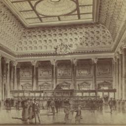 Interior of Banking Room. B...
