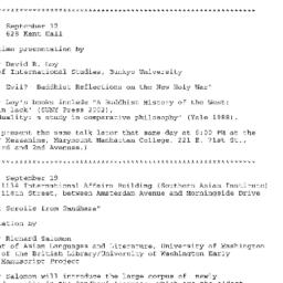 Announcements, 2002-09-12. ...