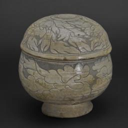 Rice Bowl with Lid Depictin...
