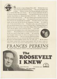 Roosevelt I Knew