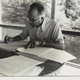 Ulysses Kay with manuscript...