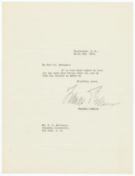 Letter from Frances Perkins to Edwin Seligman