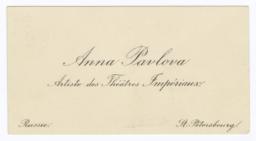 Anna Pavlova, Artiste des Théâtres Impériaux