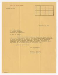 Letter from Stephen McCarthy to William Hodges