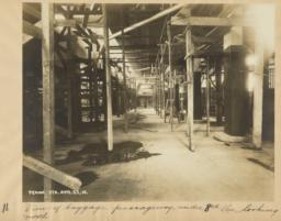 11. View of baggage passageway, under 8th Ave., looking north