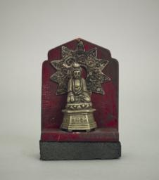 Small Buddhist Shrine, Front, open