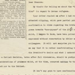 Letter, with clipping, sent...