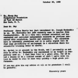 Letter from Dorothy Swaine ...