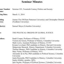Minutes, 2014-03-11. Twenti...