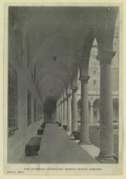 The Interior courtyard--Boston Public Library. Boston, Mass.