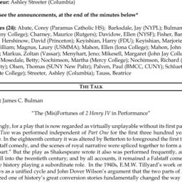 Minutes, 2014-04-04. Shaksp...