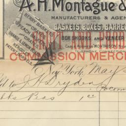 A.H. Montague & Son. Bill o...