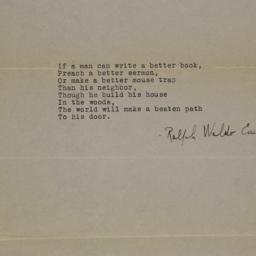 If a man can write a better...