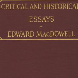 Critical and Historical Ess...