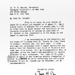 Letter from Charles H. Thom...