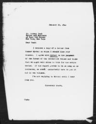 Letter from Charles Dollard to Ordway Tead, January 30, 1942