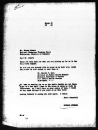 Letter from Richard Sterner to Herman Somers, March 23, 1940