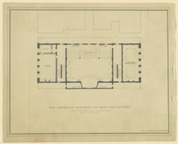 The American Academy of Arts and Letter. First and gallery floor plan