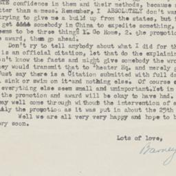 17 August 1945 letter to pa...