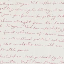 Letter from Aaron Frishberg...