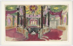 Sketch of a Ballroom for Eugene Onegin
