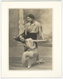 Anna Pavlova and Mikhail Mordkin in Costume and Dance Poses