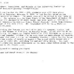 Announcements, 2000-11-09. ...