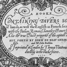 Booke Containing Divers Sor...