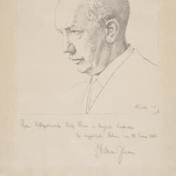 Etching of Richard Strauss