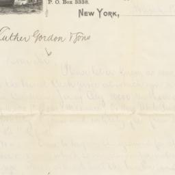 Arbuckle Bros. letter