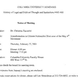 Announcements, 2001-02-22. ...