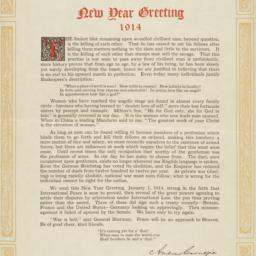 The     New Year Greeting
