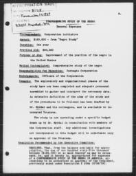 Appropriation for continuation of Carnegie-Myrdal Study, November 14, 1939