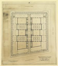 A. Fourth floor plan. New Municipal Building, Borough of Brooklyn, New York. McKim, Mead & White, Arch'ts, 160 Fifth Ave., N. Y.