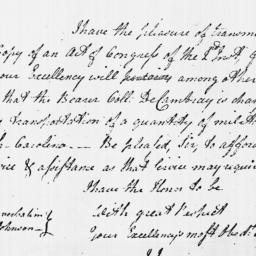 Document, 1779 February 03