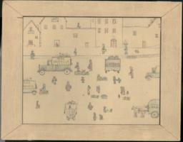 Drawing With People, Vehicles, And Buildings