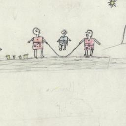 Drawing Of Children Playing